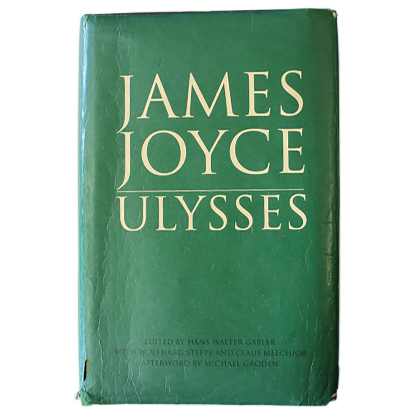 Dust jacket of Gabler (ed) Joyce Ulysses via James Joyce centre website