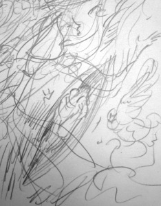 6.  '…and he would like to canoodle her too' FW p. 65 sketchbook detail