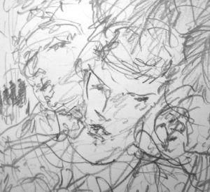 '…and wasn't that very both of them…' FW p. P. 96 Sketchbook (detail)
