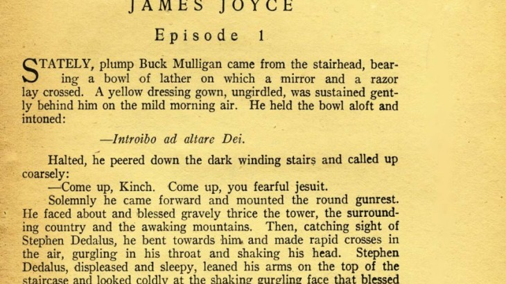 James Joyce's Ulysses in the Little Review magazine