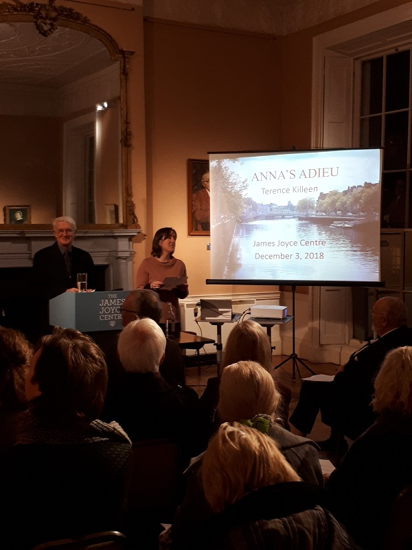 Terence Killeen Lecture on Finnegans Wake at James Joyce Centre December 2018